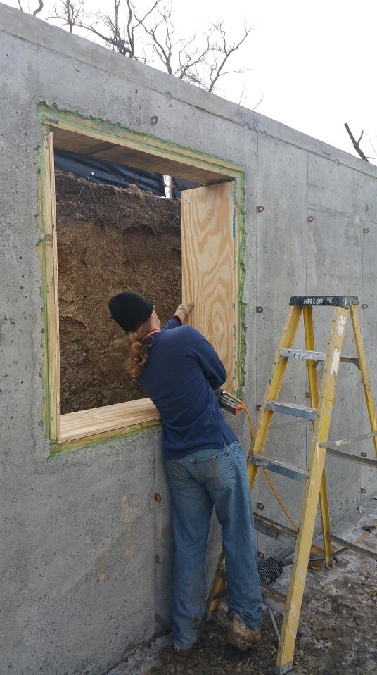 Nils Installing Basement Window Bucks Kimchi Amp Kraut