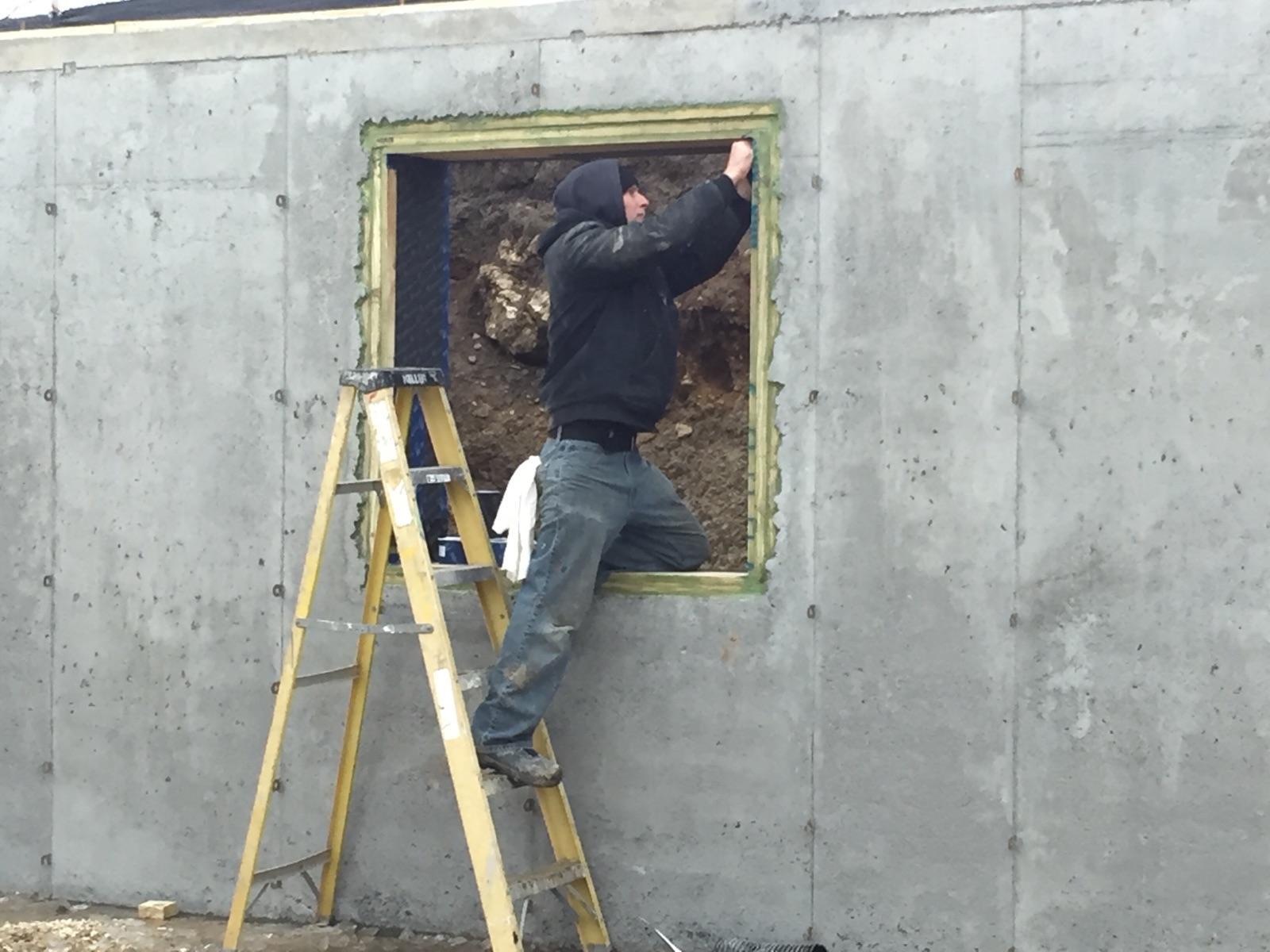 installing-pro-clima-tapes-on-basement-window