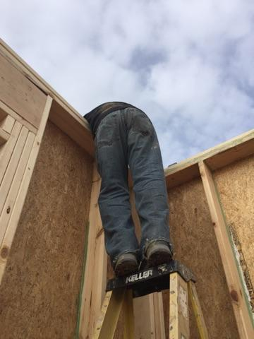 leaning-over-top-of-zip-sheathing