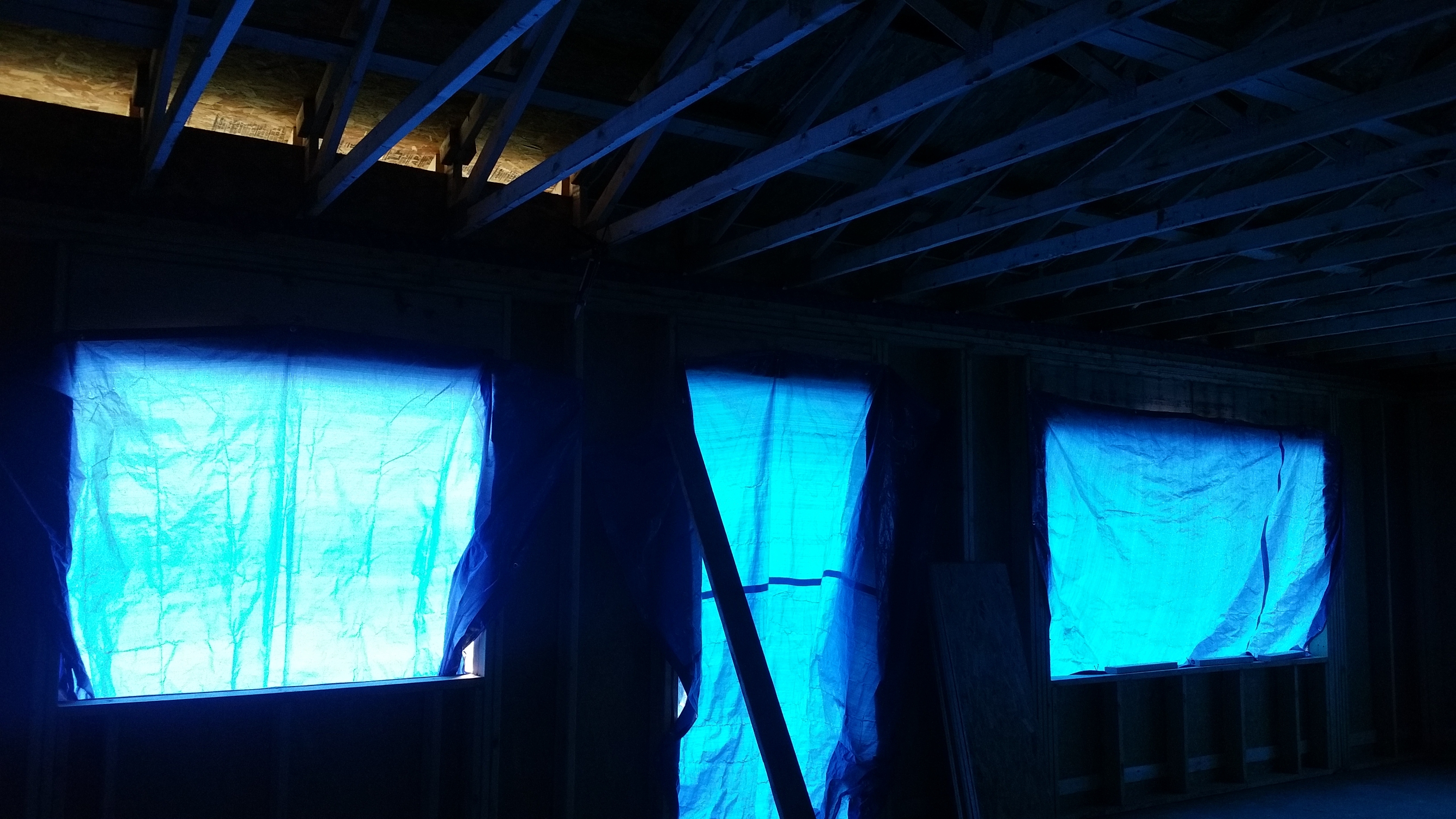 blue glow before and after chutes
