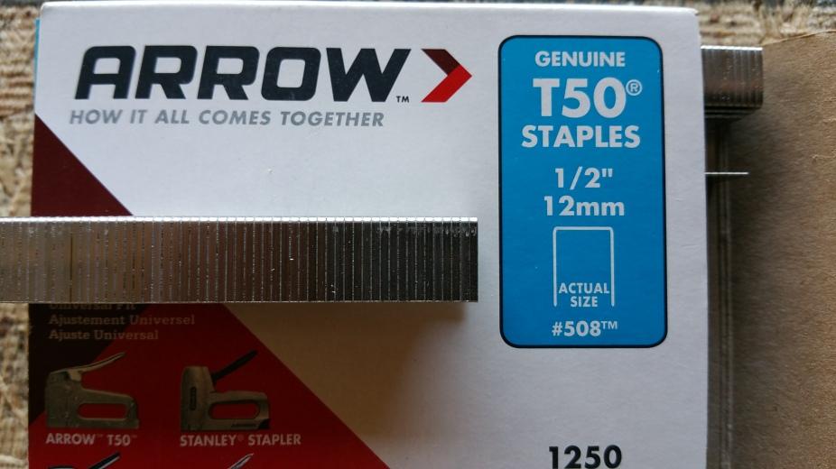 close up Arrow staples