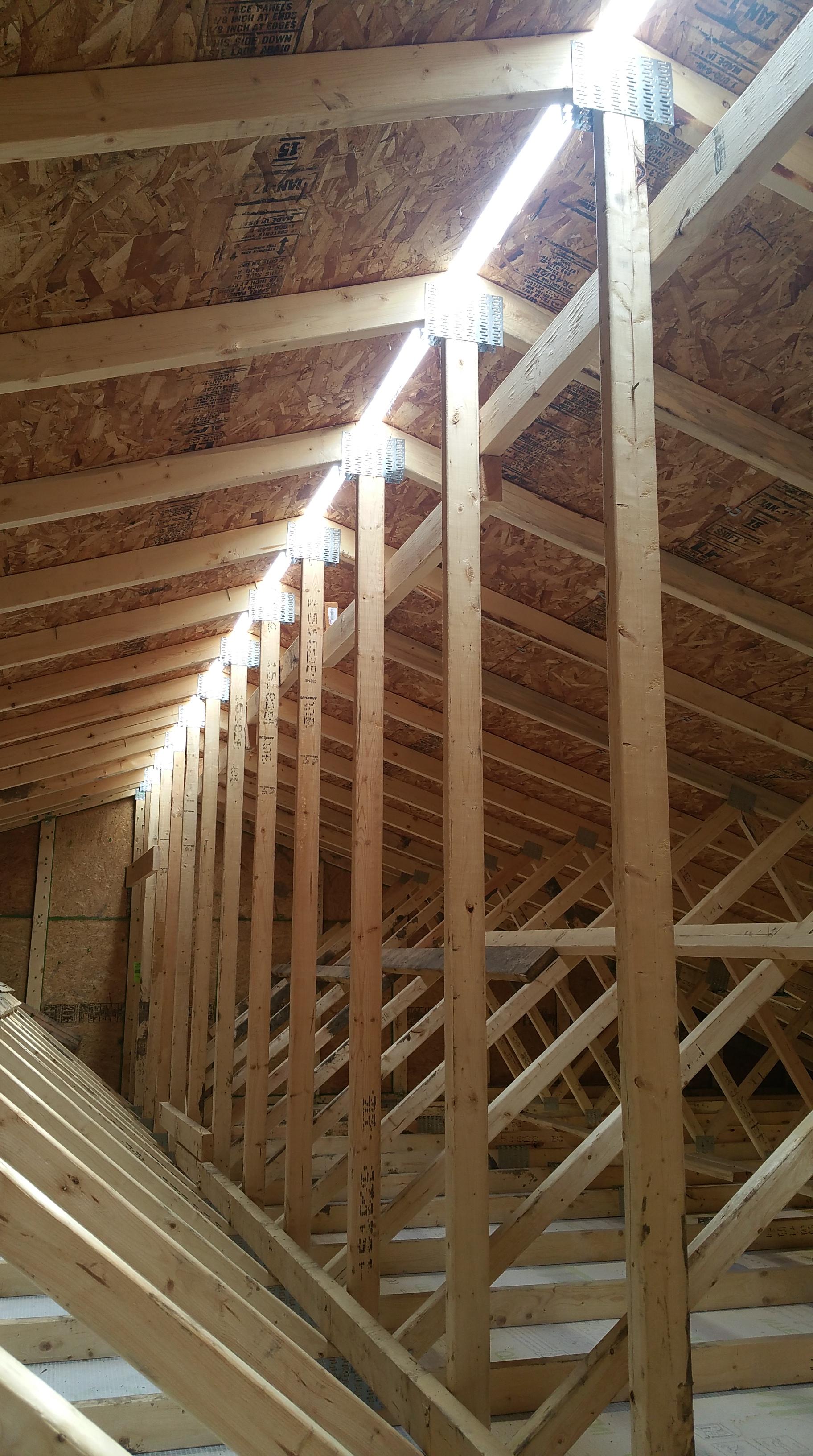 attic just before ridge vent installed