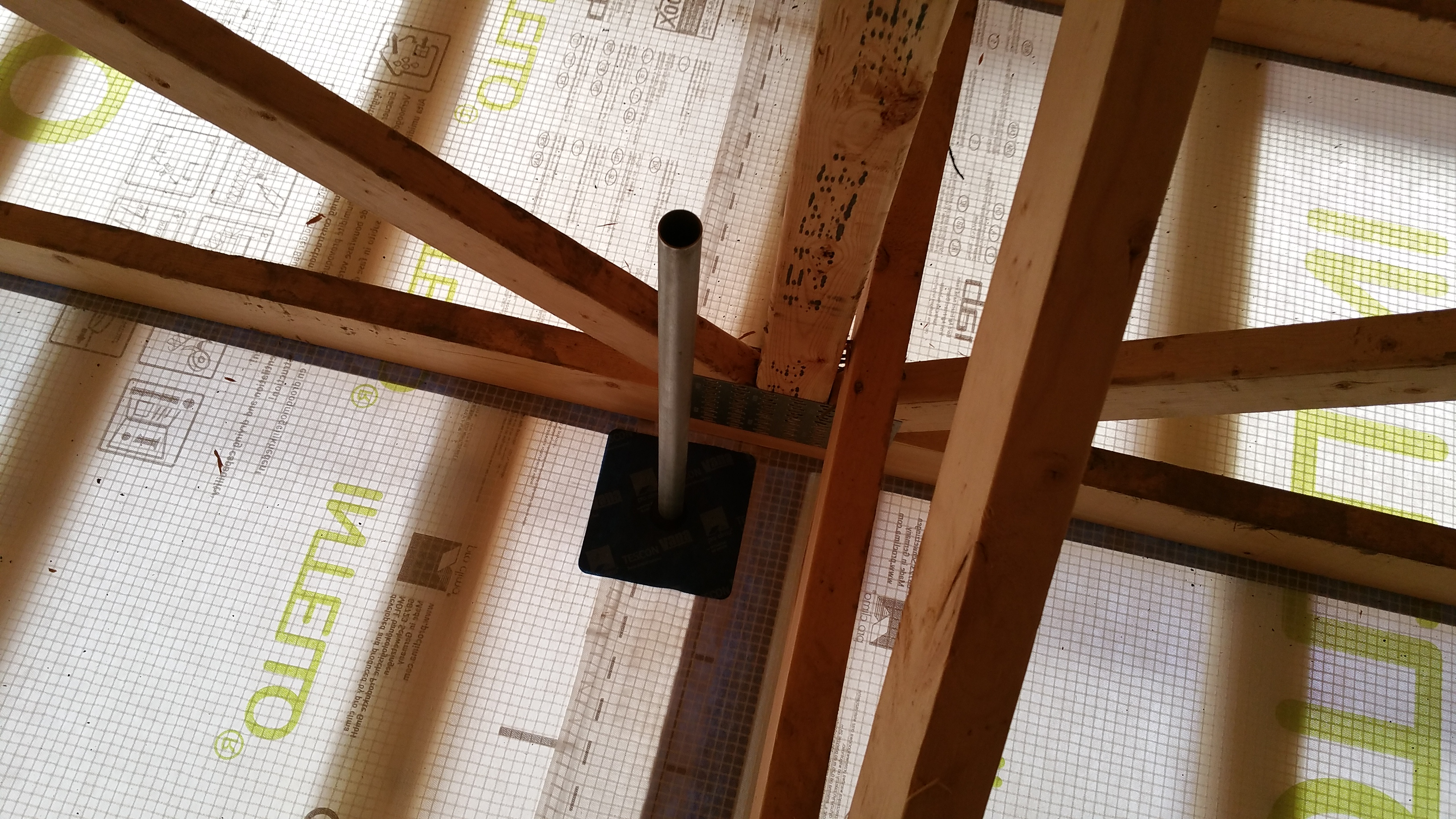 conduit for solar in the attic after gasket