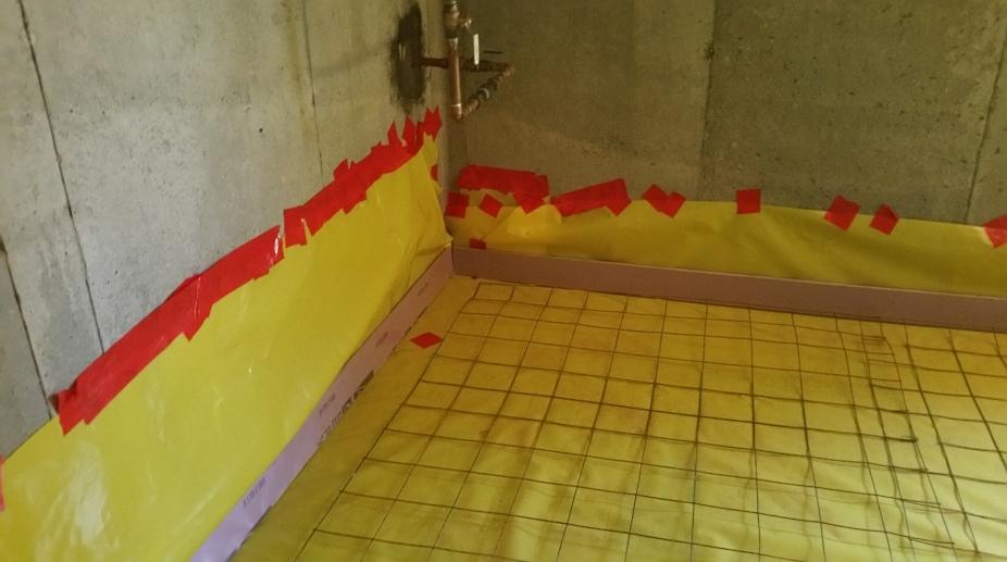 corner of basement pre-pour