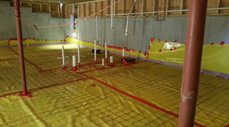 wide view of basement ready for pour