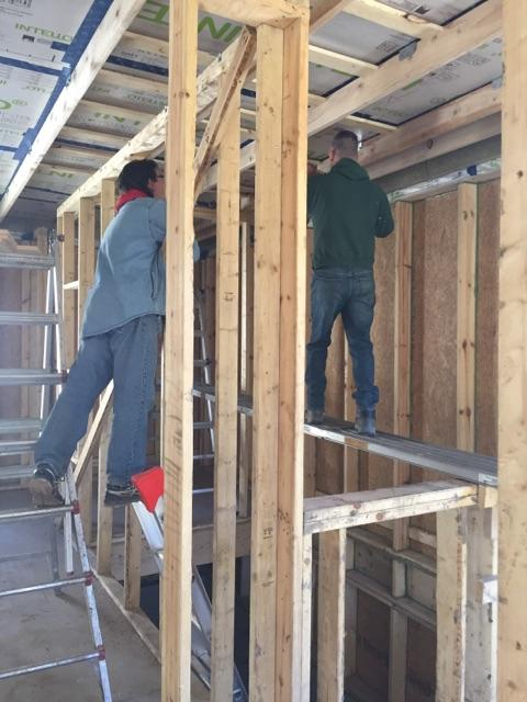 installing ceiling w: OB