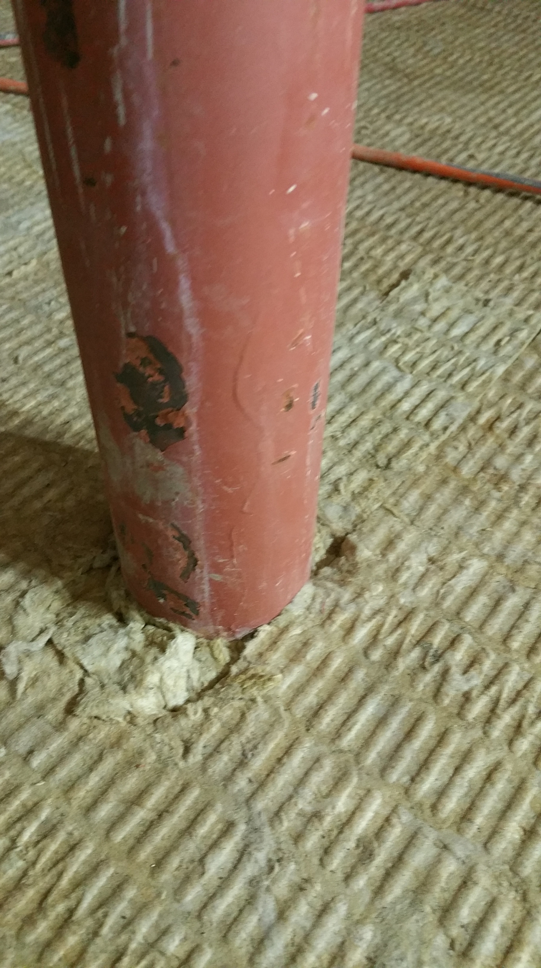 roxul stuffed in around basement pole