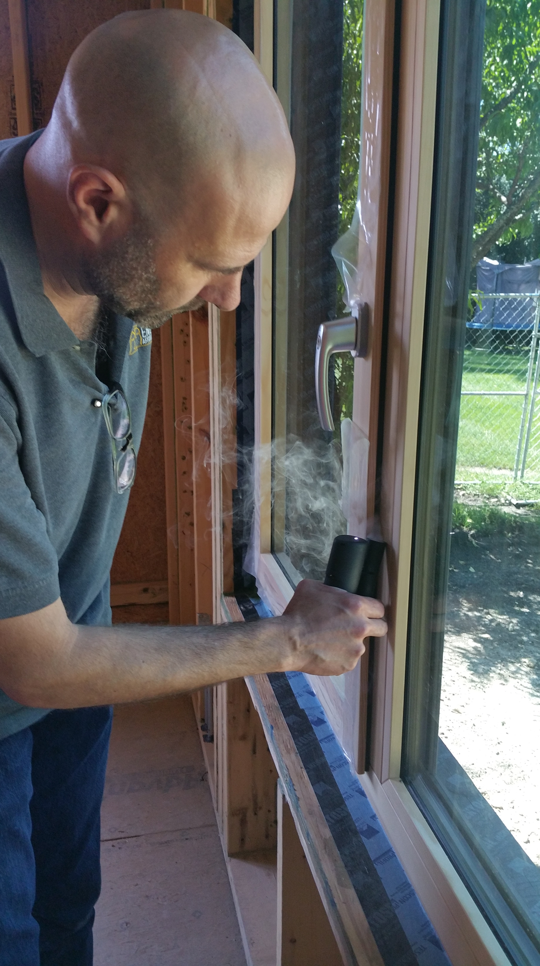 Steve testing window gasket