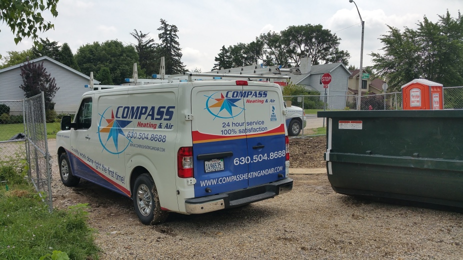 Compass truck on site