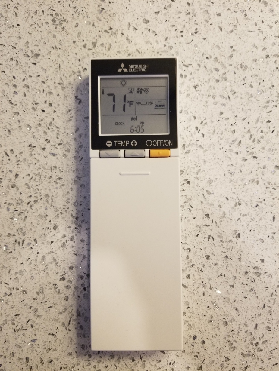 heat pump remote closed