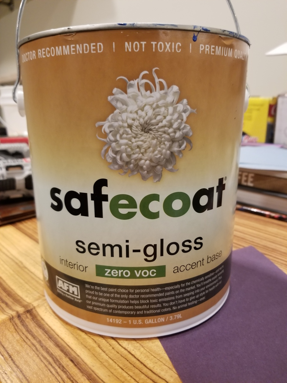 Safecoat semi-gloss Patriot Blue for steel beam