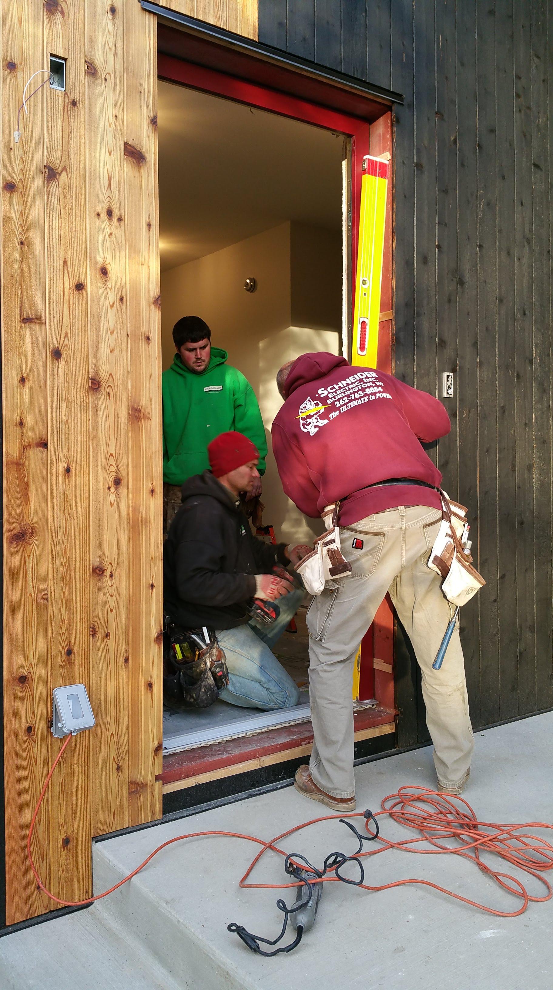 Brian Jason Bob install front door