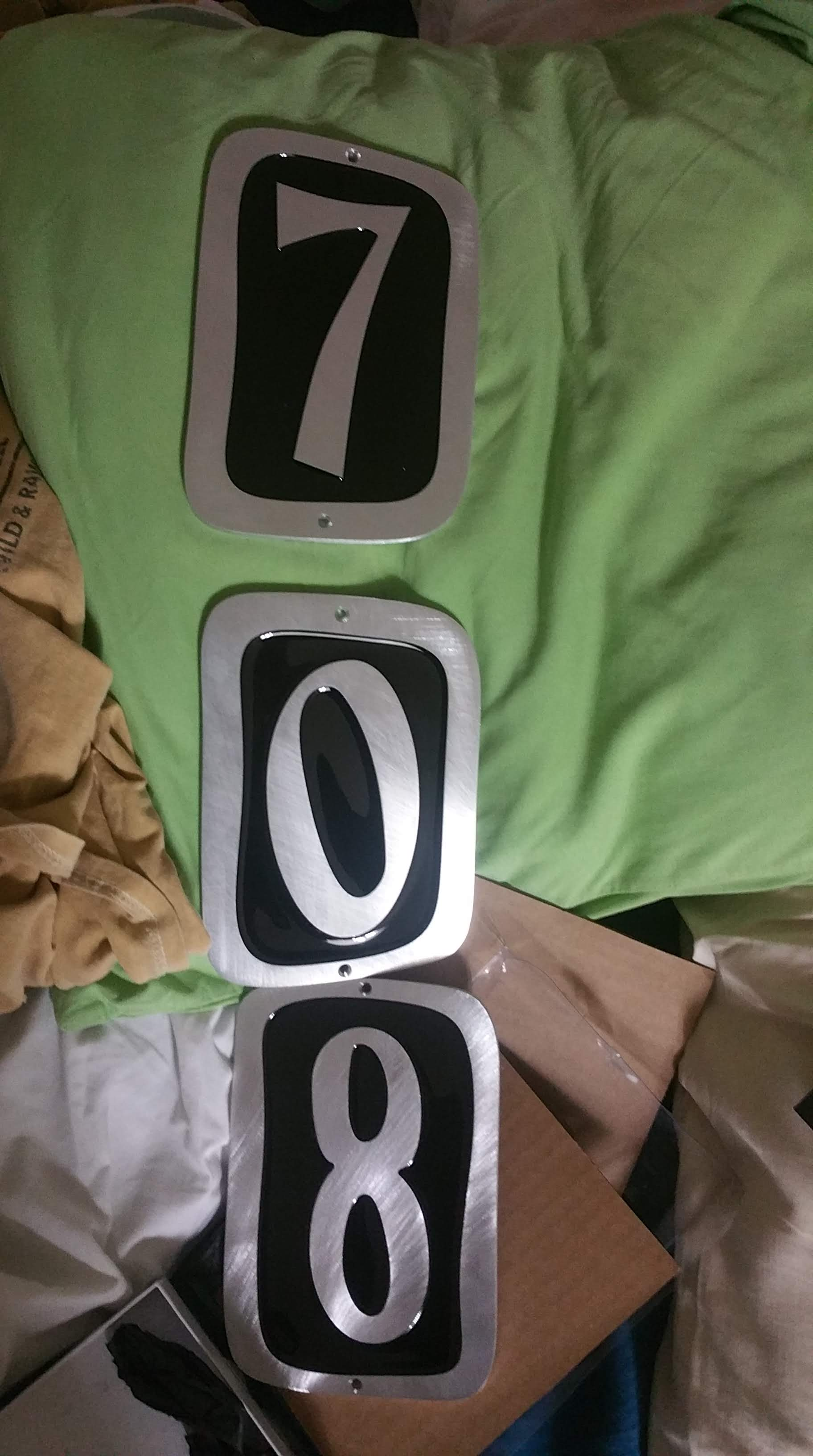 house numbers out of storage