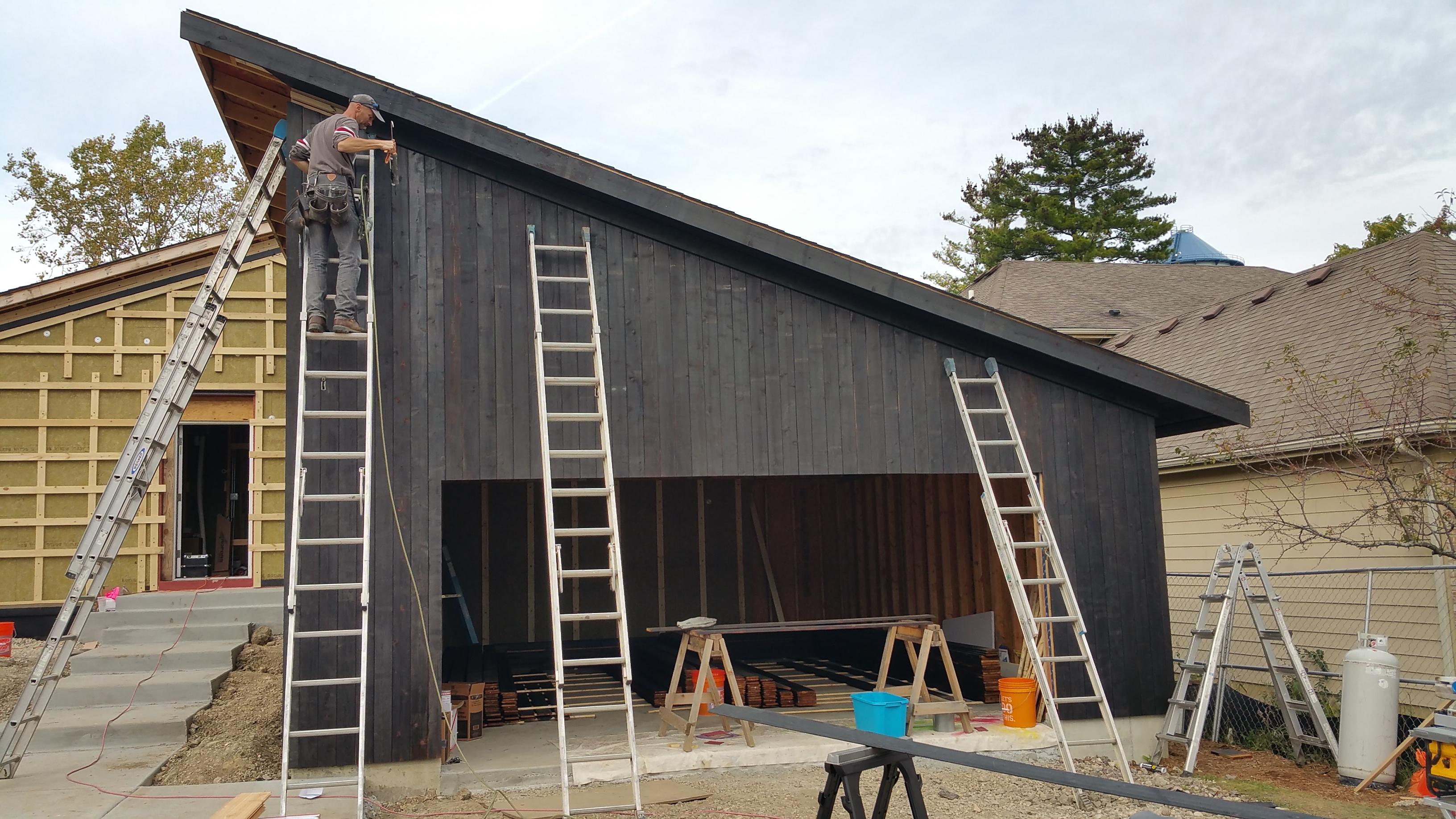 most of east side garage complete