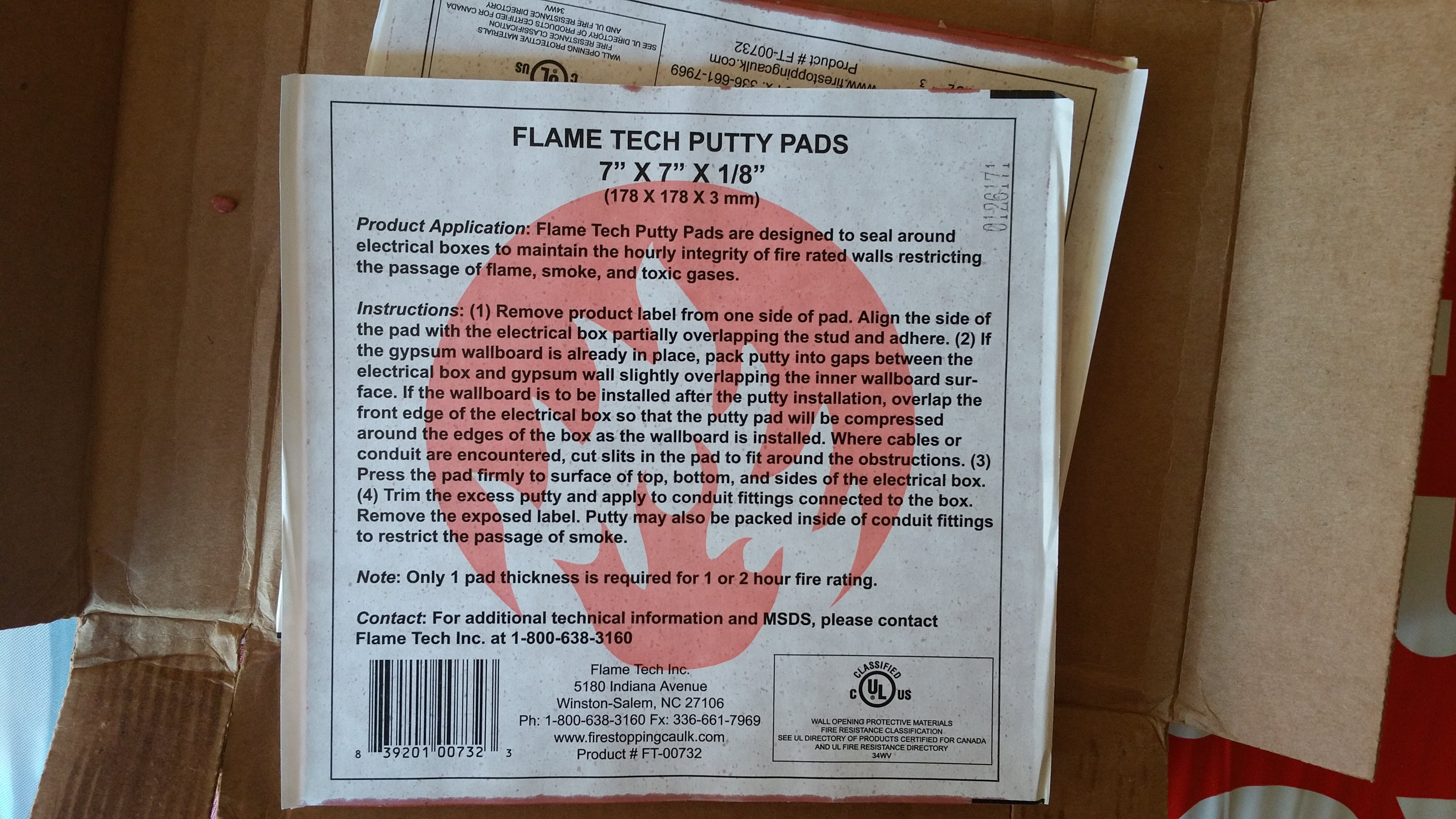 label putty pad