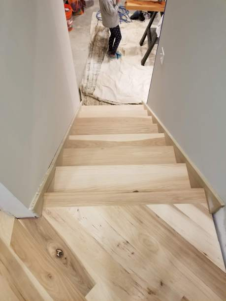 basement stairs to base floor unfinished