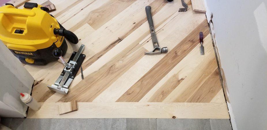 wood entry tile
